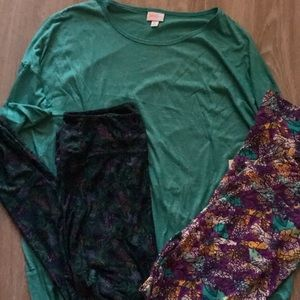 Lularoe Irma and leggings set